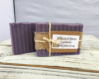 Lavender Goat Milk Soap: Handmade Soap, Lavender Scent Goat Milk, Relieves Eczema and Psoriasis, Handcrafted, Kid Friendly