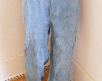 Hermans Eco Organic cotton canvas Natural indigo Jeans USA 32 X 30