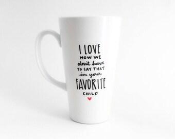 Favoriete kind mok | Papa mok | Grote mok | Upcycled mok | Grappige mok | Citeer mok | Cadeau idee | Keramische koffie thee mok | Vaderdag cadeau