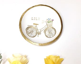 Personalized Ring Dish / Garden Bike Jewelry Dish / Personalized Jewelry Dish / Gifts for Her / Bridesmaids Gift / Personalized Gift