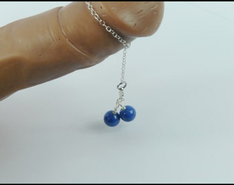 Penis Chain Swinging Blue Stone