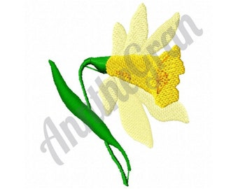 Daffodil Flower - Machine Embroidery Design
