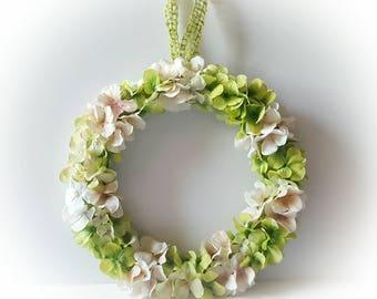 Green and Ivory hydrangea petals