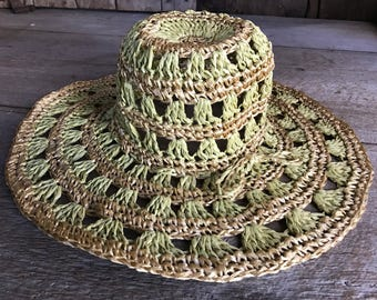 1960s Floppy Straw Hat, Beach, Summer Hat