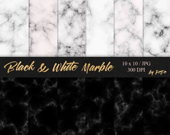 Black & white marble textures, marble digital paper, luxury background, stone textures, marble patterns, granite, download