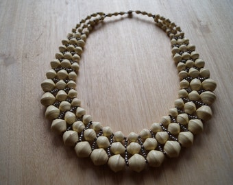 Handmade Recycled Paperbeads Necklace
