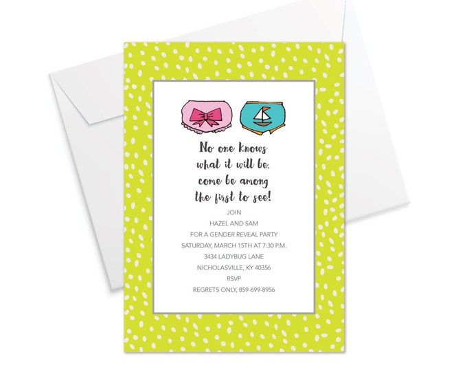 Baby Bloomers Invitation