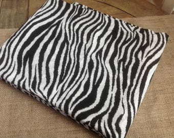 "Zebra Fabric Black and White Light Weight Fabric  44"" by 102"" MBT Copyright Protected"