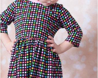 Gloria Play Dress: Girl's knit dress pattern, play dress pattern, lace dress pattern