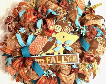 Autumn Wreath Happy Fall, Everyday Fall Wreath, Happy Fall, Door Decor, Door Wreath