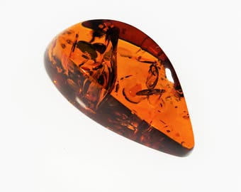 Polished Amber cabochon 16.6g
