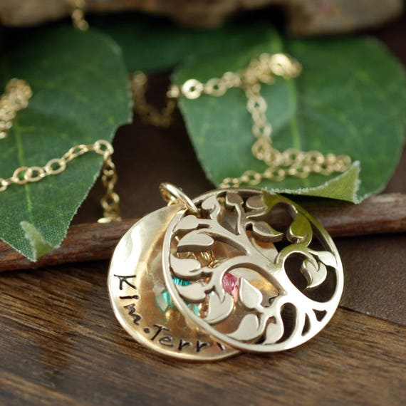 Family Tree Locket, Locket Necklace, Tree of Life Locket, Personalized Mother's Necklace, Memory Locket, Family Tree Necklace, Gift for Her