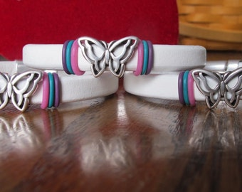 Thyroid Cancer Licorice Leather Butterfly bracelet