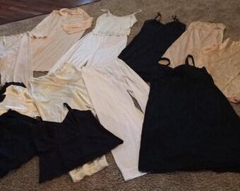 13 Vintage slip chemise lot