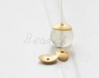 One Piece / Matte Gold Plated / Real Gold / Bead Cap / Brass Base / Cone (C3099//A526)