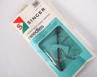 Vintage Singer Curved Needles, Heavy Duty Hand Sewing