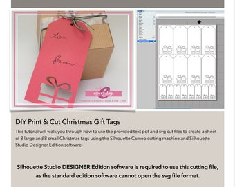 DIY Gift Tags: Print & Cut Kit - Giftbox
