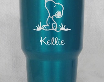 Candy Powder Coated Yeti or unbranded by HOGG Snoopy Peanuts custom engraved personalized