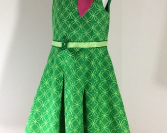 Inside Out Disgust Dress with scarf