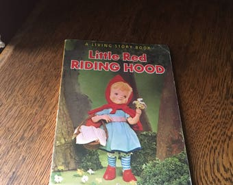 Vintage 1967 Children's Book- Little Red Riding Hood- A Living Story Book- Free Shipping!