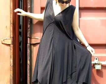SALE Extravagant Long Dress /Black Dress / Oversize Black dress/ Plus Size Black dress