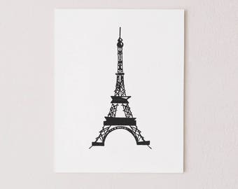 Eiffel Tower on Canvas - Paris Painting - Decor