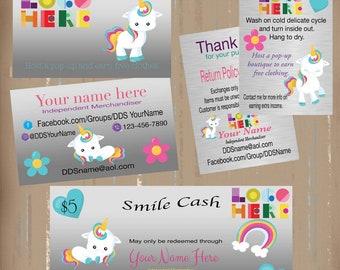 Business cards etsy dotdotsmile marketing kit with cute unicorn small kit printable customized digital dotdotsmile reheart Gallery