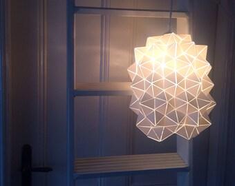 Geometric Handmade Sculptural Pendant Hanging Lamp / Lantern