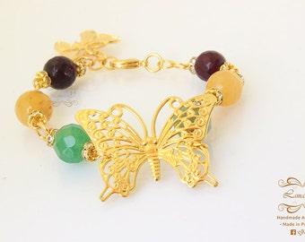 Bracelet Butterfly in gold plated