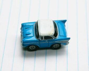 Retro Blue Micro Machine Wingtip Car Vintage Toy