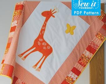 Giraffe Cot Quilt PDF Pattern