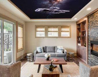 Spaceman Peel Stick Ceiling Mural Decor Photo Wallpaper Eco Certified