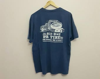 "80s ""Beer is better"" Tire Shop T-Shirt"