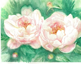 Watercolor Painting 'Flowers' by Natalia Hoult