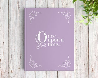 Fairytale Wedding Guest Book, Once Upon a Time Book, Custom Guest Book, Color Choices Available, GB081