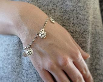 Yin-Yang Bracelet - Minimalist Jewelry - Delicate Silver Bracelet