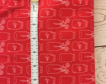 Fabric by Riley Blake Designs: Modern Mini's by Lori Holt, Red .