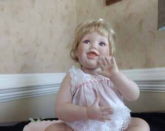 A GIFT FROM HEAVEN Danbury Mint 100% Porcelain Doll
