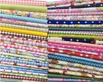"NEW Best Price! Misscrafts 50pcs 12"" x 12"" (30cm x 30cm) Top Cotton Craft Fabric Bundle Squares Patchwork Dot Pattern - FAST SHIPPING!!!"