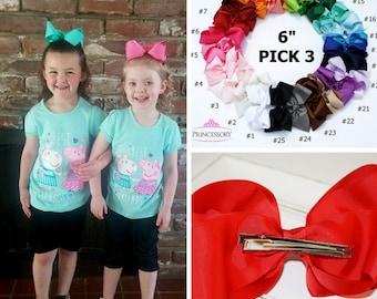 Hair Bows, Baby Girl Hair Bows, Big Bow, Big Hair Bows, Large Hair Bow, Baby Hair Bow, french barrette, french clip, Oversize Bow, B601