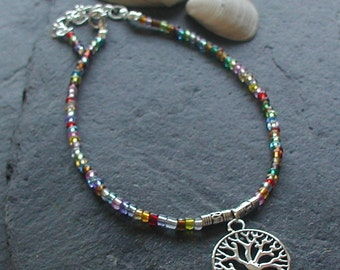 Colourful Glass Seed Beads Charm Anklet Ankle Bracelet