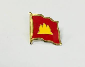 Vintage Cambodian Flag Pin