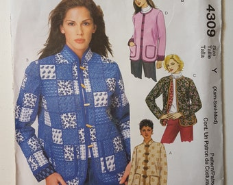 McCall's 4309 | Misses'/Misses' Petite Lined Jackets UNCUT Sewing Pattern | Size Y (XS, S, M)