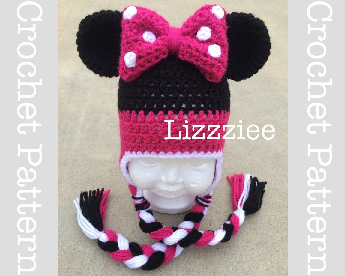 Bonito Minnie Mouse Beanie Crochet Pattern Fotos - Manta de Tejer ...