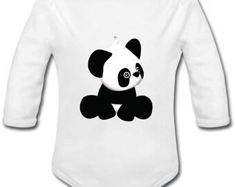 Panda - possibility of custom name baby Bodysuit