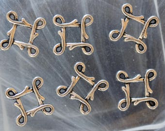 metal Chinese knot connector charms