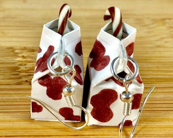 Milk carton miniature food jewlery