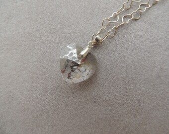 Sterling silver necklace chain hearts Silver clear heart Swarovski pendant