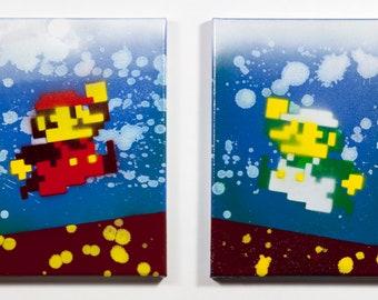 Mario Bros Diptych