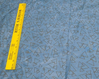Riverwoods Collection-Underground Blues-Light Blue Triangles Cotton Fabric from Troy